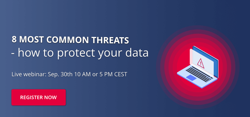 Find out the most common  threat vectors and learn how to protect your data! Register now.