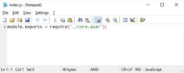 Discord - tak wygląda normalny plik discord_desktop_core\index.js