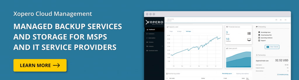 Learn more about the leading backup as a service platform - Xopero Cloud Management.